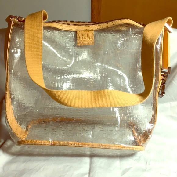 Fendi Handbags - Fendi Clear Vinyl Hobo Bag